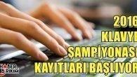 2016 Türkiye İnternet Klâvye Şampiyonası Başlıyor