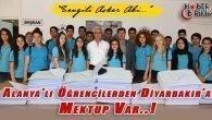 Alanya'lı Öğrenciler Diyarbakır'a 400 Mektup Gönderdi