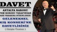 Antalya Barosu TSM Korosu 'Geleneksel Kış Konseri'