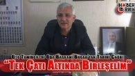 Antalya Oto Tamirciler Odası Başkanı Mehmet Bucak 'Tek Çatı Altında Birleşelim'