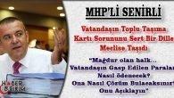 MHP'li Senirli Ulaşımda Kart Sorununu Meclise Taşıdı