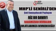 MHP'li Senirli'den Çok Konuşulacak Paylaşım