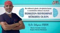 Op. Dr. Süleyman Coşkun'un Bayram Mesajı