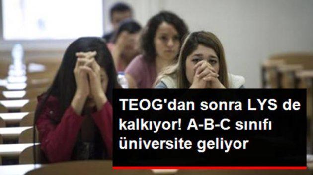 Üniversitelere Giriş Sınavı da Kaldırılıyor!