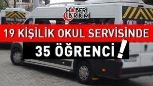 Antalya'da Durdurulan Okul Servisi Bu Kadar da Olmaz Dedirtti!