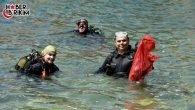 Kaleçi Yat Limanı'ndan 10 Çuval Atık Çıktı