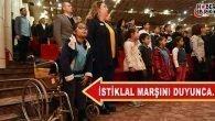 Milli Marş İçin Tekerlekli Sandalyesinden Kalktı