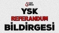 YSK Referandum Bildirgesi