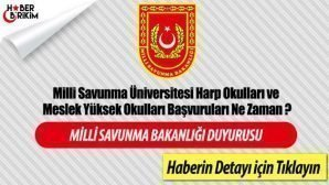 Harp Okullarına ve Astsubay Meslek Yüksek Okullarına  Başvurular Başladı