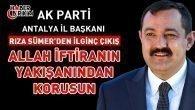 Ak Parti İl Başkanı Sümer'den İlginç Çıkış