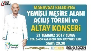 Yemişli Mesire Alanı'na Konserli Açılış