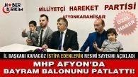 MHP Afyon'da Bayram Balonunu Patlattı! – Mustafa YILMAZ Özel Haberi
