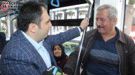 MHP Antalya İl Başkanı Aksoy Tramvayda Vatandaşlarla Buluştu